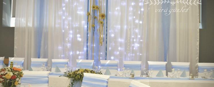 esküvői fényfüggöny bérlés
